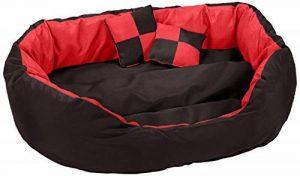 dibea Lit/Coussin/Canapé Lavable avec Coussin Réversible pour Chien Rouge/Noir 65 x 50 x 20 cm de la marque dibea image 0 produit