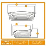 Ferplast Lit en Plastique pour Chiens/Chats Siesta Deluxe 4 - Taupe de la marque Ferplast image 2 produit
