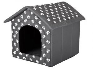 HobbyDog Panier pour chien ou chat En forme de niche Motifs empreintes de pattes de la marque HobbyDog image 0 produit