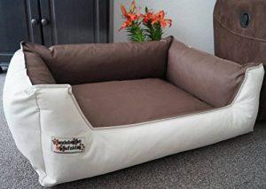 Hundebettenmanufaktur Panier pour chien Beige/marron 105 x 80 cm de la marque Hundebettenmanufaktur image 0 produit