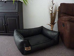Hundebettenmanufaktur Panier pour chien en cuir synthétique Noir 90 x 70 cm de la marque Hundebettenmanufaktur image 0 produit