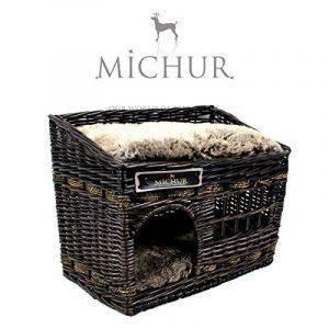 Jerry - Lit Sofa Panier Cave pour chien et chat en osier - Couleur : espresso - grandeur (environ.): 57x35x43cm de la marque Michur image 0 produit
