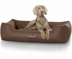 Knuffelwuff Lit pour chien en similicuir Sidney - taille M-L 85 x 63cm Brun de la marque Knuffelwuff image 0 produit