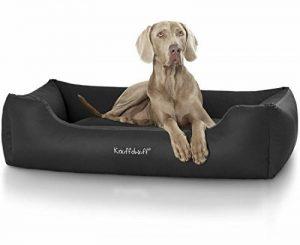 Knuffelwuff Lit pour chien en similicuir Sidney - taille XXL 120 x 85cm Noir de la marque Knuffelwuff image 0 produit