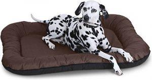 Knuffelwuff Lucky Lit pour chien pour intérieur et extérieur XXL 118 x 85cm Marron Angulaire - Hydrofuge de la marque Knuffelwuff image 0 produit