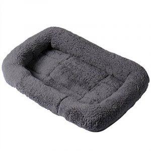 Lit rectangulaire rembourré en cachemire doux et confortable, facile à nettoyer Pour chien et chat Avec bords ronds de la marque GDRAVEN image 0 produit