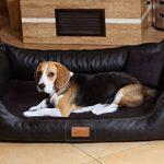 Maddox Lit orthopédique pour chien de TIERLANDO en Art Canapé pour chien en cuir velours Panier pour chien Noir Taille L 100cm de la marque tierlando image 4 produit