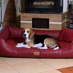 Maddox Lit orthopédique pour chien de TIERLANDO en Art Canapé pour chien en cuir velours Panier pour chien Noir Taille L 100cm de la marque tierlando image 6 produit