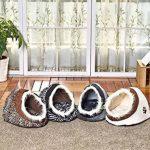 Maison luxe de chien Lit pour chien chiots Grotte Paniere chat Corbeille pour petit animal chaton lapin double usage s avec coussin épais 5 couleurs Zimbra de la marque Pawz Road image 3 produit