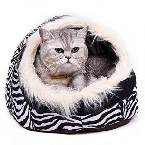 Maison luxe de chien Lit pour chien chiots Grotte Paniere chat Corbeille pour petit animal chaton lapin double usage s avec coussin épais 5 couleurs Zimbra de la marque Pawz Road image 0 produit