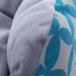Nunubee Paniers pour Chiens Motif Feuille Rond en Coton Coussins Matelas Lit de Chien Chats Petits Animaux Bleu (M) de la marque Nunubee image 6 produit