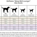 On Paws 'Sleep Well Lounger' Lit pour chien (5 Tailles & Choix de Couleurs disponibles) Bleu Foncé, Size S(50 x 40 cm) de la marque On Paws image 1 produit