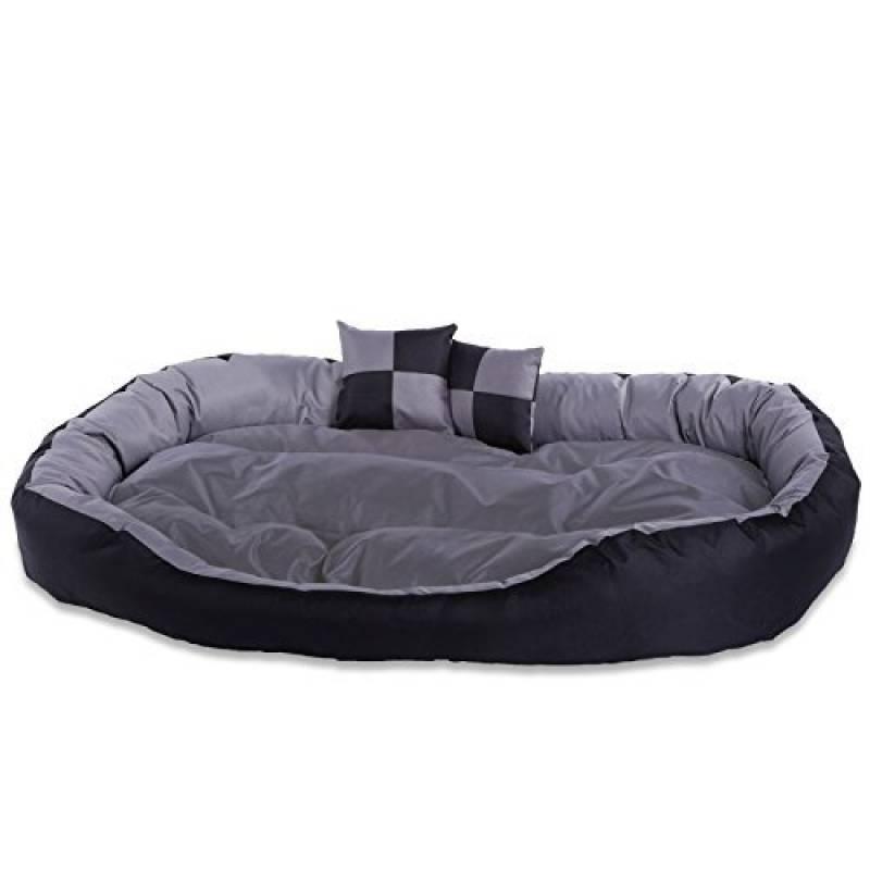 dibea litcoussincanap lavable avec coussin rversible pour chien grisnoir 110 x 80 x 23 cm de la marque dibea - Canape Pour Chien Grande Taille