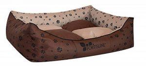 Panier corbeille pour chien Madagascar XXL 130x105cm lit animeaux couchage Fortisline-Brun/beige de la marque Fortisline image 0 produit