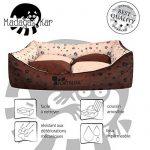 Panier corbeille pour chien Madagascar XXL 130x105cm lit animeaux couchage Fortisline-Brun/beige de la marque Fortisline image 2 produit