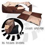 Panier corbeille pour chien Madagascar XXL 130x105cm lit animeaux couchage Fortisline-Brun/beige de la marque Fortisline image 3 produit