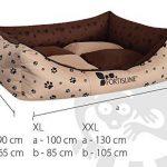 Panier corbeille pour chien Madagascar XXL 130x105cm lit animeaux couchage Fortisline-Brun/beige de la marque Fortisline image 4 produit