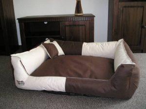 Panier pour chien 105x80cm Beige et marron de la marque Hundebettenmanufaktur image 0 produit