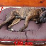 Panier pour chien couverture déhoussable 120x90x17 brun de la marque ETS image 2 produit
