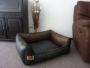 Panier pour Chien en similicuir Similpelle 70 cm X 50 cm noir marron de la marque Hetebettenmanufaktur image 0 produit