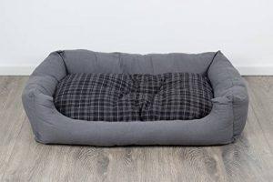 Panier pour chien, moderne, gris, 120x80 cm, avec coussin réversible, coussin pour chien, lavable de la marque SAUERLAND image 0 produit
