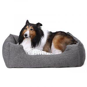 Songmics Panier lit chien 80 x 60 x 26 cm Dog Bed Coussin Matelas pour chien chats PGW26G de la marque Songmics image 0 produit