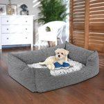 Songmics Panier pour lit chien Dog Bed Coussin Matelas 60 x 50 x 22 cm PGW22G de la marque Songmics image 1 produit