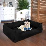 Songmics XL Panier Pour lit chien Dog Bed Coussin Matelas Animaux 100x70x28cm PGW28H de la marque Songmics image 5 produit
