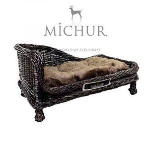 SUSI- Lit Sofa Panier Cave pour chien et chat - Coleur: marron - grandeur 68x41x32cm de la marque Michur image 0 produit