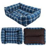 SymbolLife Panier corbeille, lit pour chien, coussin de chien,2en1, blue/brun, Taille M 50*40*16,5CM de la marque SymbolLife image 4 produit