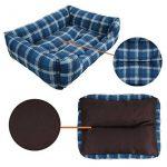 SymbolLife Panier corbeille, lit pour chien, coussin de chien,2en1, blue/brun, Taille M 50*40*16,5CM de la marque SymbolLife image 6 produit
