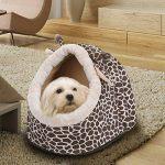 taonmeisutm doux Lavable en machine Pet chiot Chien Chat chaud Panier Lit Coussin girafe Design Pet Reste Lit Maison Chambre pour petit chien et chats de la marque TAONMEISU image 2 produit