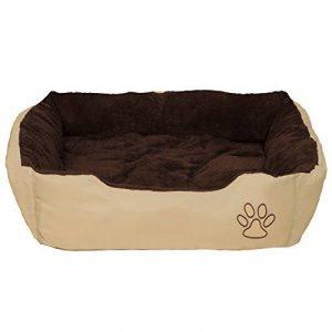 TecTake Lit douillet pour chiens 80x60x18cm panier corbeille couchage brun de la marque TecTake image 0 produit