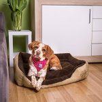 TecTake Lit douillet pour chiens 80x60x18cm panier corbeille couchage brun de la marque TecTake image 1 produit