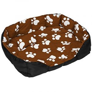 TecTake Lit douillet pour chiens panier corbeille couchage XXL noir/brun de la marque TecTake image 0 produit