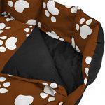 TecTake Lit douillet pour chiens panier corbeille couchage XXL noir/brun de la marque TecTake image 3 produit