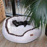 tierlando® LA3-05 LANA Canapé-lit pour chien de très grande taille en velours et rembourré, Taille M 80 cm, couleur crème de la marque tierlando image 2 produit