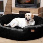 tierlando® LA3-05 LANA Canapé-lit pour chien de très grande taille en velours et rembourré, Taille M 80 cm, couleur crème de la marque tierlando image 4 produit