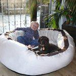 tierlando® LA3-05 LANA Canapé-lit pour chien de très grande taille en velours et rembourré, Taille M 80 cm, couleur crème de la marque tierlando image 5 produit