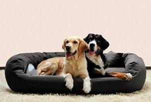 tierlando Lit Orthopédique Pour Chien ARES VISCO Canapé pour chien fermement tissé Polyester Gr. XL+ 125 cm Graphite Gris de la marque tierlando image 0 produit