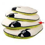 Trixie Coussin pour chien ovale de Shaun le mouton, 80x 50cm, crème/vert de la marque Trixie image 1 produit