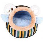 Abri pour Chat ou Chiot, Corbeille/ Panier/Niche/Maison Douillet Chaude pour le Chien ou Matou à l'Intérieur avec un Coussin Lavable et Amovible (Bleu) de la marque Amorus image 0 produit