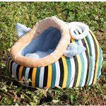 Abri pour Chat ou Chiot, Corbeille/ Panier/Niche/Maison Douillet Chaude pour le Chien ou Matou à l'Intérieur avec un Coussin Lavable et Amovible (Bleu) de la marque Amorus image 4 produit
