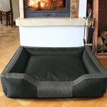 BedDog BRUNO, anthracite/gris, XL env. 100x85 cm,Panier corbeille, lit pour chien, coussin de chien de la marque BedDog image 0 produit