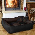 BedDog MAX QUATTRO 2en1, noir/brun, XL env. 100x85 cm,Panier corbeille, lit pour chien, coussin de chien de la marque BedDog image 0 produit