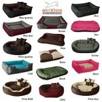 BedDog MAX QUATTRO 2en1, noir/brun, XXL env. 120x85 cm,Panier corbeille, lit pour chien, coussin de chien de la marque BedDog image 4 produit