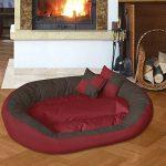 BedDog SABA 4en1, Rouge/Brun, XXXL 150x120 cm, 7 couleurs au choix, Panier corbeille, lit pour chien, coussin de chien de la marque BedDog image 3 produit