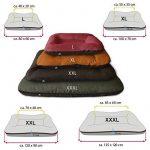BedDog VERA 2en1, Noir/Brun, XXL 120x90 cm, 7 couleurs au choix, Panier corbeille, lit pour chien, coussin de chien de la marque BedDog image 2 produit