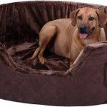 Henry Lit pour chien en mousse 5 cm XXXL 120 x 100cm - Marron de la marque Knuffelwuff image 1 produit