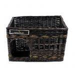 Jerry - Lit Sofa Panier Cave pour chien et chat en osier - Couleur : espresso - grandeur (environ.): 57x35x43cm de la marque Michur image 2 produit